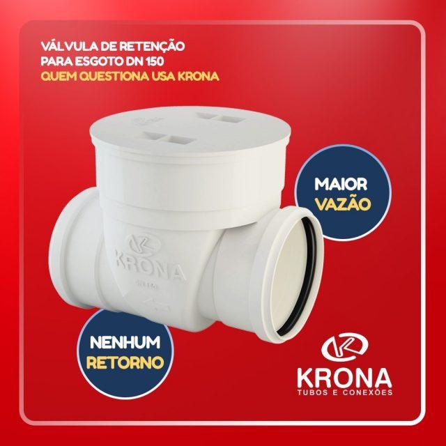 Para sistemas de maior vazo a Krona apresenta a Vlvulahellip